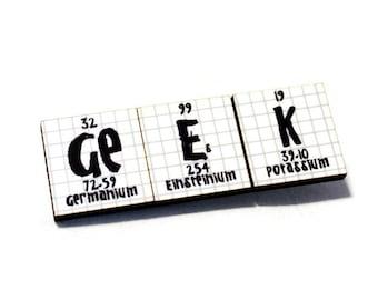 Chemistry Periodic Table Geek Pin - Lab Coat Bling - Geek Nerd Breaking Bad Science Chemistry