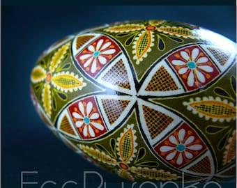 Real Ukrainian Pysanky. Goose Pysanka. Hand made High Quality by Roman. Easter Egg