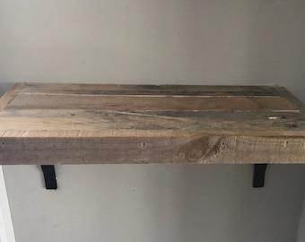 """12"""" Reclaimed wood shelves"""