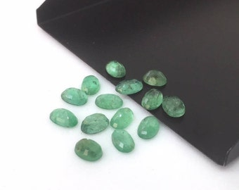 3 Pcs Zambian Emerald Oval Lot,Zambian Emerald,Emerald Loose,Emerald Stone,Oval Emerald,Green Zambian Emerald,Faceted Emerald,Emerald,6X4 mm