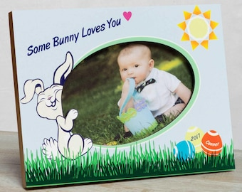 Personalized Easter Picture Frame, Boys Easter Picture Frame, Boys Easter Frame, Boys First Easter Frame, Easter Bunny Frame, Baby Easter