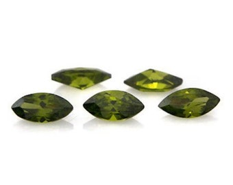 Cubic Zirconia Olive Green Marquise AAA Wholesale Lot Loose Stones (4x2mm - 16x8mm)