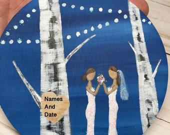 Mrs Mrs Wedding Gift - LGBT Wedding - Lesbian Wedding - Mrs and Mrs - Mrs & Mrs - Gift For Mrs and Mrs - Mrs Mrs Gift Idea - Hers and Hers