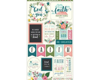 Have Faith - Chipboard Accents - by Echo Park Paper Co. - Perfect for Bible Journaling!