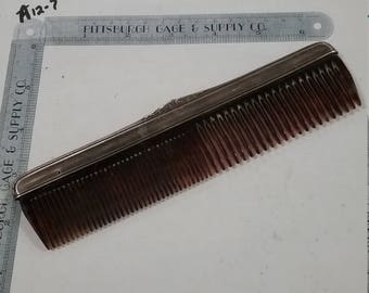 Vintage used Sterling Silver  comb
