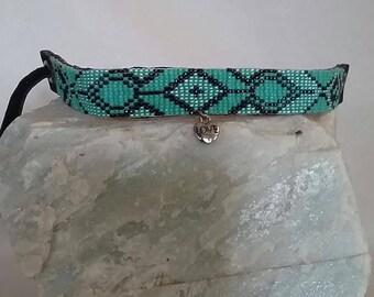 Turquoise Hand-woven Beaded Bracelet