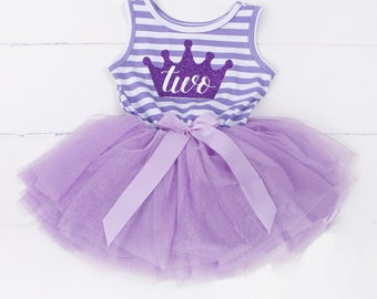 Beautiful Second Birthday Dress. Purple