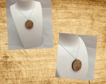 wood slice necklace