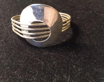 Charles Albert fine 925 sterling silver cuff bracelet