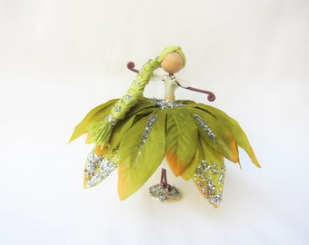 Handmade Fairy Doll, Ornament Doll, Nature Fairy Doll, Tree Fairy Doll, Green Fairy Doll, Fairy Gift, Tree decorarion