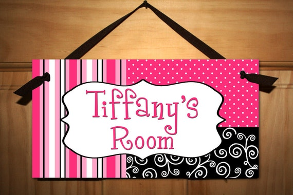 Posh Girl Teen Door Sign Kids Bedroom Playroom Wall Art Decor