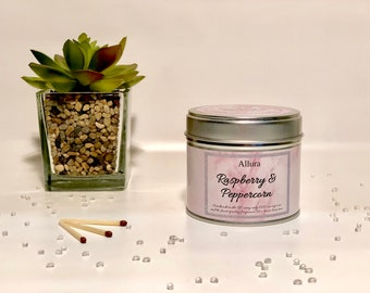 Raspberry & Peppercorn Scented Candle Tin