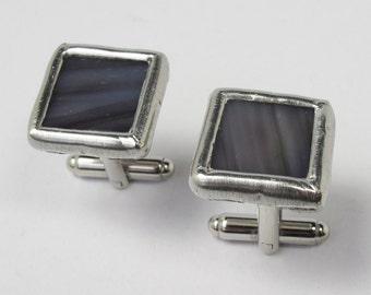 Twilight Time - Mens Stained Glass Cuff Link Set