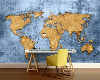 World map wall decal wallpaper world map old map wall decal gumiabroncs Images