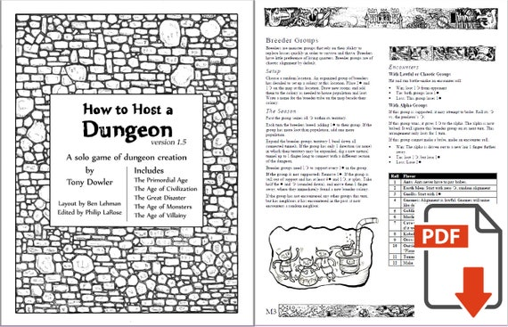 How to Host a Dungeon PDF