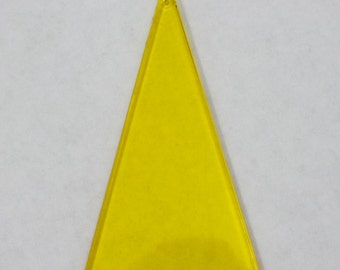 65mm Transparent Yellow Triangle Drop #1468