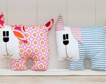Dog Sewing Pattern PDF Instant Download Plush Stuffed Toy Tutorial. Fabric dog pattern.