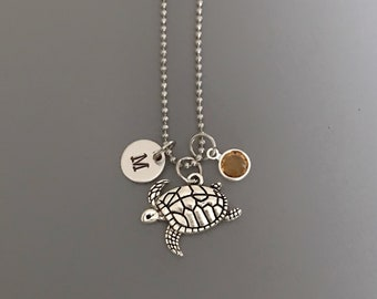 Sea Turtle Necklace-Beach Jewelry-Vacation Necklace-Beach Necklace