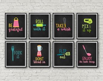 Kitchen Wall Art Bundle, Printable Wall Art