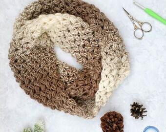 Coffee Bean Infinity Scarf Crochet Pattern PDF Printable