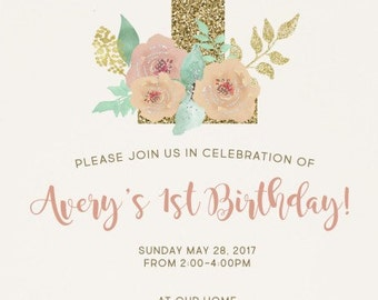 Enchanted Floral Invitation