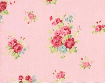 Caroline in Bloom ..  Brenda Riddle Designs .. CAROLINE collection  Moda fabric 18650 14 ..  Pink colorway