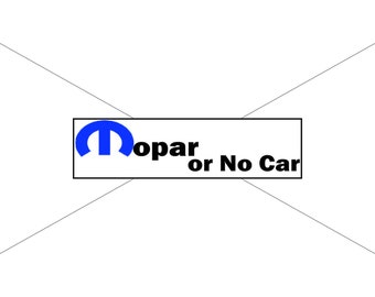 Moper or No Car Bumper Sticker