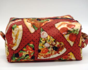 Pizza Bag, Dopp Kit, Moisture Proof Ditty Bag, Toiletry Kit, Pencil Case, Cosmetics Pouch, Gifts Under 20, Gifts for Chefs, Go Bag