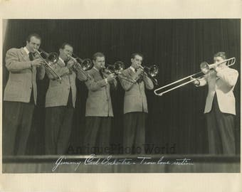 Jimmy Carl orchestra trumpet trombone antique photo