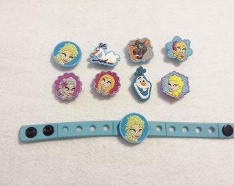 10 Frozen Silicone Bracelets Party Favors