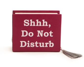 wooden evening handbag Do not disturb