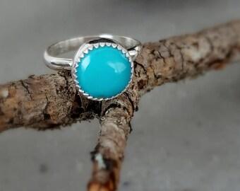 Kingman turquoise ring, Robins egg blue, kingman turquoise, turquoise jewelry, sterling silver turquoise ring, handcrafted, artisan, boho