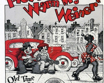 Robert R. CRUMB Cover Art - Please Warm My WEINER Old Time Hokum Blues 1970s Compilation Lp 180 Gram SEALED Vinyl Record Album Robert Crumb