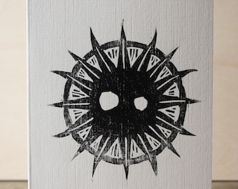 Sun Woodcut Greetings Card
