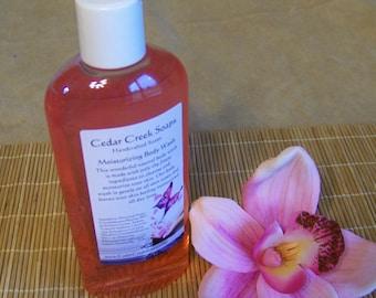 SHOWER GEL ~ Plumeria Flowers Shower Gel Body Wash Shower Gel Bubble Bath 8 oz Bottle
