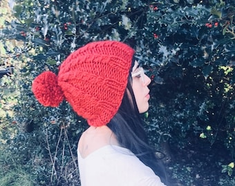 24 Colors // LUXURY EDITION Micro Cable // Chunky Knit Adjustable Hat // Made to Order