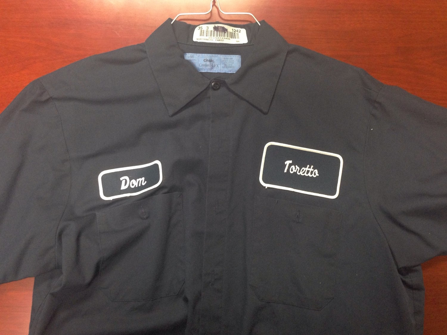 Used toretto dom work shirts like vin diesal has in fast and for Mechanic shirts custom name patch