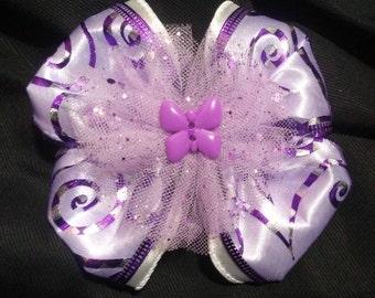 Purple Butterfly Sensation Hair Bow