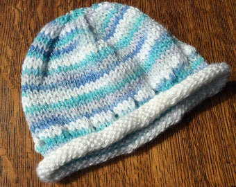 Hand knit baby hat. Size 1-2 yrs.