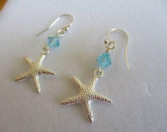 summer earrings starfish earrings starfish jewelry ocean earrings beach earrings starfish earrings nautical earrings beach lovers gift