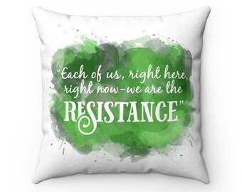Ilyon Chronicles Resistance Quote Spun Polyester Square Pillow