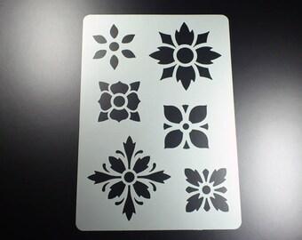Template Flower Rosette 6 Flowers Asia Japan-BA51