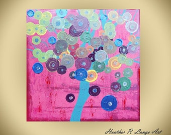 Original Canvas Wall Art Modern Pink Custom Made To Order Custom Painting Abstract Multi Color