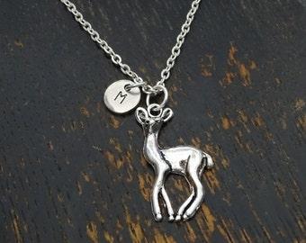 Deer Necklace, Deer Charm, Deer Pendant, Deer Jewelry, Fawn Necklace, Fawn Charm, Fawn Pendant, Fawn Jewelry