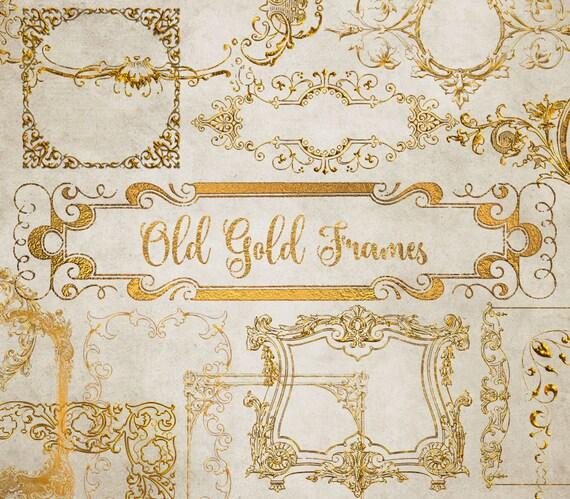 Old Gold Frames Clipart - vintage antique ornamental frames clip art ...