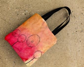 Flower market bag, tote bag, weather resistant tote.