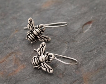 Bumble bee Earrings, Bee Earrings, Silver Bee Earrings, Bee Jewelry, Bee Lover gift