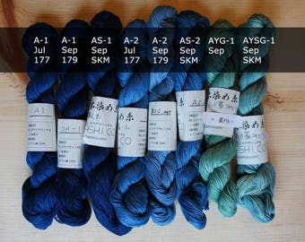 Indigo Dye Sashiko Thread   Hand-Dyed 145 Meter Skein for Sashiko Stitching