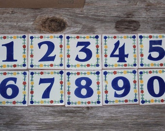 Tile House Numbers Ceramic Talavera Home Address Tile Numbers Patio Home Garden Pottery
