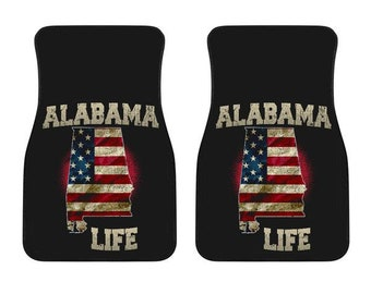 Alabama/Life/American Flag/Car/Truck/SUV/Auto/RV/Floors Mats/Gifts/State Flag/Art/Home